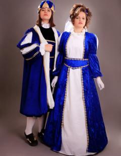 דגם 86 מלך ומלכה כחול רויאל קטיפה