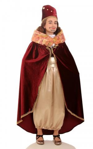 דגם 108 ב'  מלך בורדו קטיפה חצאית זהב
